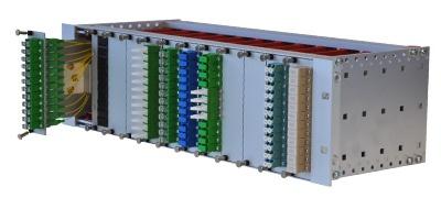 """Przełącznica modułowa OMP 19"""" 3U Q-Fiber"""